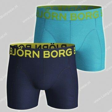 Bjorn Borg Basic 2-Pack Short Neon
