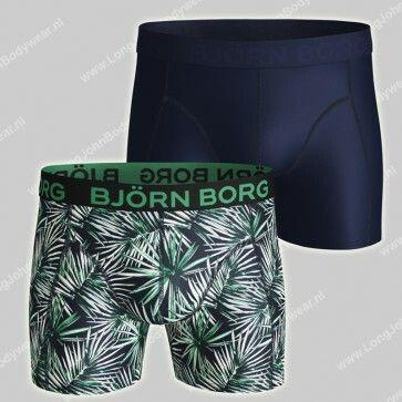 Bjorn Borg Nederland 2-pack Short Sammy Microfiber Light-Weight Jungle Leaves