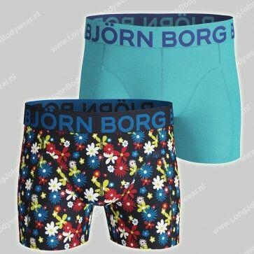 Bjorn Borg Basic 2-Pack Short Retro Flower