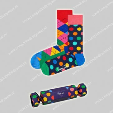 Happy Socks Nederland Holiday Cracker Big Dot 2-pack
