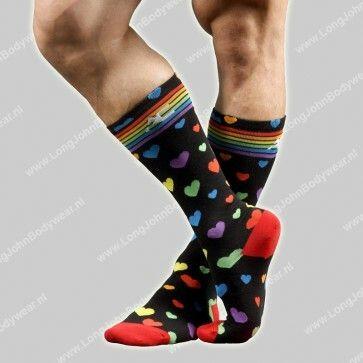 Andrew Christian Nederland Rainbow Pride Hearts Socks