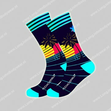 MuchaMalo Nederland Sock Retro Wave