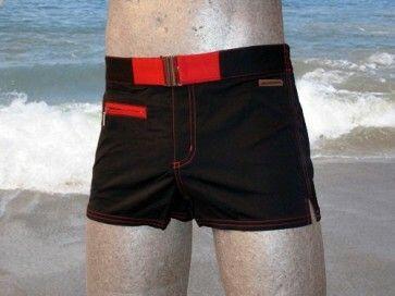 Hom Swim Black-Addict Red Red Boxer