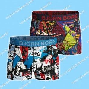 Bjorn Borg Nederland Kids Short 2-Pack NY Times & Skycraper