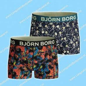 Bjorn Borg Nederland Kids Short 2-Pack Bat & Skeleton