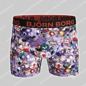Bjorn Borg Nederland-Short Microfiber Light-Weight Graffiti
