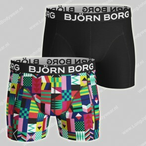 Bjorn Borg Basic 2-Pack Short Geo Flag