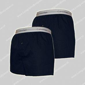 Calvin Klein Nederland Woven Boxer Slim-Fit 2-Pack