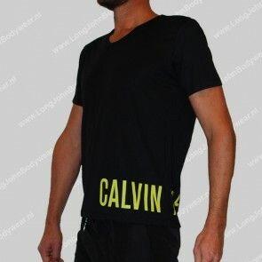 Calvin Klein Nederland Long Rounded V-Neck Shirt