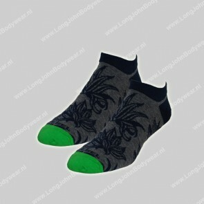Diesel Nederland Gost Low-Cut Socks Denim Leaf