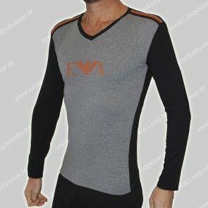 Emporio Armani Nederland Long-Sleeve V-Shirt Stretch-Cotton
