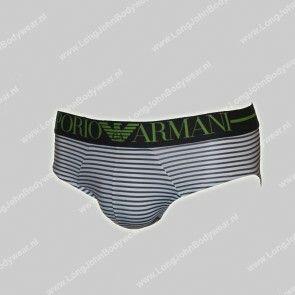Emporio Armani Nederland Microfiber Brief Stripe