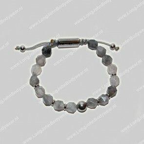 AlphaGems Nederland Bracelet Cristal Grey