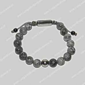 AlphaGems Nederland Bracelet Rope Jaspis Grey