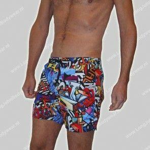 Bikkembergs Nederland Swim Murales Boxer Pocket