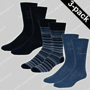 Calvin Klein Nederland Socks 3-Pack Gift-Box Multistripe