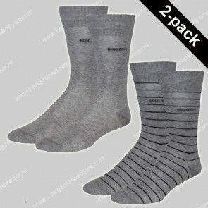 Hugo Boss Nederland Socks 2-Pack Fine Stripe