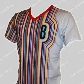 Bikkembergs Nederland V-Shirt Stripes