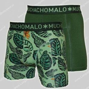 MuchachoMalo Nederland 2-Pack Short-Green Cotton-Modal