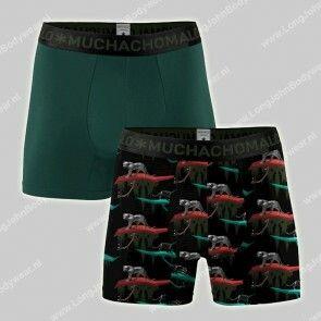 MuchachoMalo Underwear Nederland 2-Pack Shorts Bamboo Black Panter