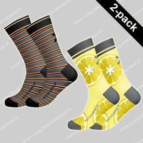 MuchaMalo Nederland 2-pack Socks Lemons