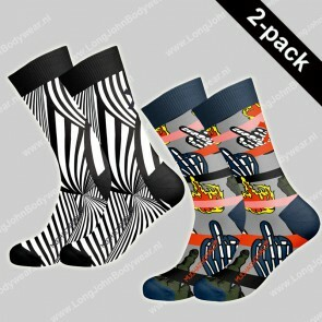 MuchaMalo Nederland 2-pack Socks Read Between the Lines