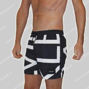 Calvin Klein Nederland Swim Medium-Short Drawstring Logo-Print